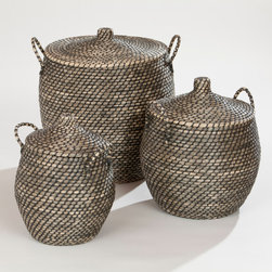 Jamilia Lidded Storage Basket - You can never have enough storage, and these lidded baskets are a nice way to hide any mess you bring home with you.
