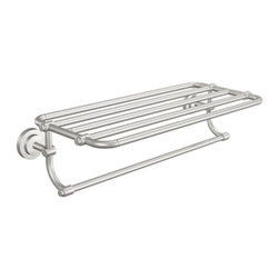 "Moen - Moen Iso 24 Towel Shelf, Brushed Nickel (DN0794BN) - Moen DN0794BN Iso 24"" Towel Shelf, Brushed Nickel"