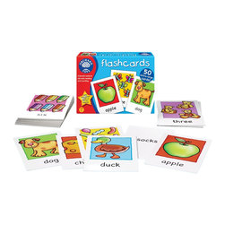 The Original Toy Company - The Original Toy Company Kids' Flashcards - 50 Large early reading cards. Use these 50 double-sided flashcards to help young children develop early reading and number skills. Ages 3 years plus. Made in England.