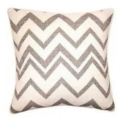 Squarefeathers - Chouchou, Zig Zag Pillow - The Chouchou Collection is for every girl and woman that loves pink. The silver and pink pairing is both fun and sophisticated. It has a soft and pump feataher/down insert inclosed with a zipper. Like all of our products, this pillow is handmade, made to order exclusively in our studio right here in the USA.