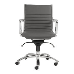 Euro Style - Euro Style Dirk Low Back Office Chair X-YRG47600 - Euro Style Dirk Low Back Office Chair X-YRG47600