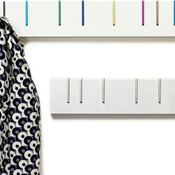 Symbol Coat Rack - If you're looking for something clean and modern but with a hint of fun, try this streamlined coat rack. When not in use, the rack looks like a stylish piece of wall art.