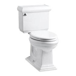 KOHLER - KOHLER Memoirs Classic Comfort Height Two-Piece Elongated 1.28 GPF Toilet - KOHLER K-3816-U-0 Memoirs classic Comfort Height two-piece elongated 1.28 GPF toilet with Insuliner tank liner in White