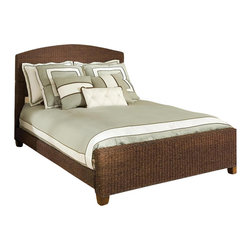 Home Styles - Home Styles Queen Cabana Banana Woven Panel Bed in Cocoa Finish - Home Styles - Beds - 5402400 - Eco friendly construction of 100% sustainable materials. Hand woven of natural banana leaves in rich Cocoa finish. Headboard with gently curved top and footboard are woven of natural banana leaves. Frame and legs are Mahogany solids. Side rails have woven banana leaf covering. Rich Cocoa color finish. Great design looks good in any decor.