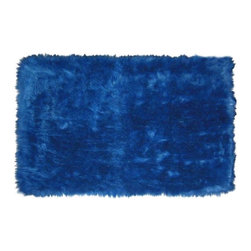 Fun Rugs - Kids Rug in Dark Blue - Your child's room is a natural extension of them. Add these innovative designs from LA Rug to spruce up any child's decor.