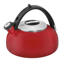 Cuisinart Peak 2-Quart Enamel Teakettle, Red
