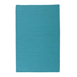Colonial Mills - Colonial Mills Simply Home Solid H049 Turquoise Rug H049R144X180S 12x15 - Practical. Colorful. Versatile. Maintenance-free. Simply pick from 37 colors to find the perfect solid-color indoor/outdoor rug for your space.