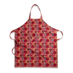 Candy Flower Apron, Red/Green