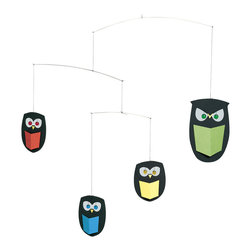 Flensted Mobiles - The Wisest Owl Mobile - Wise guys. This adorable owl mobile is a hoot. It captures all the wide-eyed intelligence of these nocturnal creatures and will act as an ongoing inspiration for kids of all ages to learn something new every day.