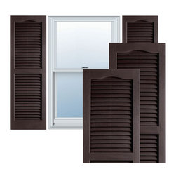 """Alpha Systems LLC - 14"""" x 80"""" Premium Vinyl Open Louver Shutters,w/Screws, Chocolate Brown - Our Builders Choice Vinyl Shutters are the perfect choice for inexpensively updating your home. With a solid wood look, wide color selection, and incomparable performance, exterior vinyl shutters are an ideal way to add beauty and charm to any home exterior. Everything is included with your vinyl shutter shipment. Color matching shutter screws and a beautiful new set of vinyl shutters."""