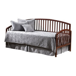 Hillsdale Furniture - Hillsdale Carolina Daybed with Suspension Deck and Roll Out Trundle - Cherry - Beautifully understated, the Carolina daybeds are a lovely addition to any home. The simple styling and choice of finishes offers versatility, complimenting any decor.