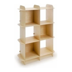 Offi - Offi | Kids Ply-Grid Shelving - A simple solution for your storage needs, the Kids' Ply-Grid Shelving unit features finely crafted shelf grids made of Baltic  Birch veneered plywood. They are free of hardware and simple to assemble.  The Kids' Ply-Grid Shelving unit is beautiful to the  eye and sturdy enough for moderate needs. Each unit may be stacked, but we recommend anchoring to the wall with a standard wall  anchor available at any hardware store.