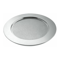 """Alessi - Alessi """"Disco Cesellato"""" Round Tray - This is a beautifully decorated round tray in 18/10 stainless steel mirror polished."""