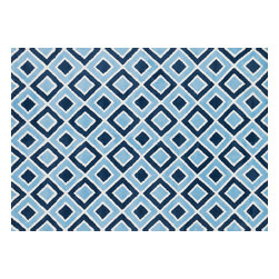 """Loloi Rugs - Loloi Rugs Zoey Collection - Blue, 5'-0"""" x 7'-0"""" - Zoey is a delightful collection of lighthearted, cheerful patterns in pinks, blues and greens that are perfect for young kids or the young at heart. Power loomed in China of super soft polyester microfiber, Zoey rugs are durable, yet soft enough for infants and toddlers to cozy up to._"""