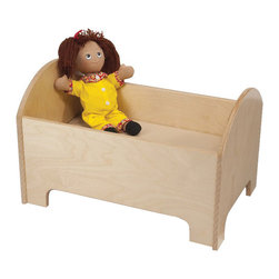 Whitneybrothers - Whitney Brothers Home Kids Children Doll Bed - Adorable bed for Imaginative Play. Constructed in beautiful, durable birch laminate, natural UV finish. Ships fully assembled, UPS or Fed ExGround.  Made in the USA.  Greenguard certified. Lifetime Warranty.