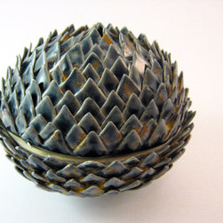 Artichoke Jar by Janice Blahblah - Perhaps my obsession with artichokes should be immortalized in jar form. This is seriously gorgeous.
