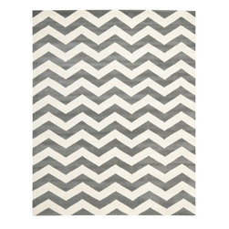 Safavieh Chatham CHT715D Dark Grey - Ivory Area Rug - Safavieh Chatham CHT715D Dark Grey - Ivory Area Rug