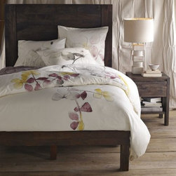 Spring Blossom Duvet Cover - The Spring Blossom duvet from West Elm is both lovely and soothing. Watercolors and pastels are perfect together.