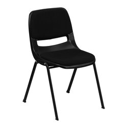 Flash Furniture - Flash Furniture Stack Chairs Plastic Stack Chairs X-GG-DAP-10-1OE-TUR - We consider this student stack chair to be the premier stack chair - essential for every school and classroom setting. This ergonomic stack chair provides a body molded, high impact plastic shell set upon a heavy gauge steel frame. The comfort-formed back and contoured seat with waterfall front will give you complete comfort and lasting durability. [RUT-EO1-01-PAD-GG]