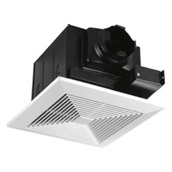 "Progress Lighting - Progress Lighting PV020-30 80 CFM Bathroom Exhaust Fan in White PV020-30 - 80 CFM bath fan. Sound level rating 0.7 sones. Energy StarCollection: Bath Fans Energy Star Compliant: Yes Finish: White and Black Height: 7 8 Style: Traditional Suggested Room Fit: Bathroom Type: Bath Fans Weight: 11 Width: 12-3 4"" sq.{Performance at 0.1"" Ps Air Flow: 93 CFM (60 CFM at 0.25"" Ps) Fan Motor Speed: 958 RPM Sound: 0.7 Sones Power: 23.6W {Trim Grille One piece white polymeric Mounts with two torsion springs to provide positive retention and eliminate ceiling gaps Dimensions: 12-3 4"" square, 7 8"" D {Housing Heavy gauge steel construction Black power coat painted finish Accommodates installation in 2x8 construction Mounts to ceiling or wall joists Galvanized steel construction Removable cover for access to wiring compartment 4"" round duct fitting for positive connection Inline damper prevents cold backdrafts Bar hangers span 24"" joist spacings in new construction Rigid steel rim accommodates remodel construction {Electrical 120V, 60Hz, 0.197A motor Permanently lubricated motor for continuous operation Plug in for ease of servicing Snaps in out for ease of cleaning and servicing - no screws Specially designed polymeric blower wheel Thermally protected cut-off circuitry {Labeling UL-CUL listed for use over bathtubs and showers when connected to a GFCI protected branch circuit Energy Star qualified Suitable for us in insulated ceilings (IC), max 40C ambient, insulation type not to exceed R40 Air and Sound ratings are certified by HVI"
