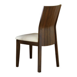 """Steve Silver Furniture - Steve Silver Harlow Side Chair with Natural Cotton Seat [Set of 2] - Western style meets Eastern influence with the contemporary Harlow Dining Collection. The Harlow side chair has a high back of vertical bent slats and cream upholstery on the seat, a perfect match for the Harlow Dining table. The chair measures 22""""W x 19""""D x36""""H."""