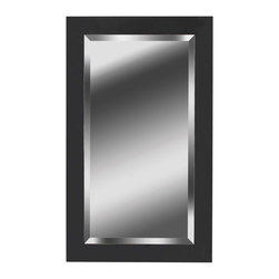 None - Carter 40x24 Black Ice Wall Mirror - This black ice wall mirror is a unique addition to any bedroom or living room. It features a timeless design that complements a wide range of decor options, and the broad frame of the mirror provides plenty of durability for long-term use.
