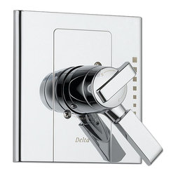 Delta Monitor(R) 17 Series Valve Trim Only - T17086 - Inspired by geometric designs found in mid-century modern furniture, Arzo makes a bold statement in understated fashion.