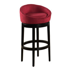 "Armen Living - Armen Living Igloo 30"" High Microfiber Swivel Bar Stool-Red - Armen Living - Bar Stools - LCIGBAMFRE30 -Reflecting the lifestyle and trends of today with an eye towards tomorrow, the Armen Igloo Bar Stool blends distinctive styling with a contemporary flair that will truly enhance your home bar or kitchen's look."
