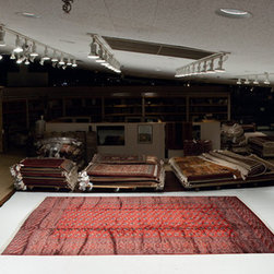 Red Bokhara 12x18 - Very fine wool Bokhara carpet.  Traditional geometric with versatility in contemporary rooms
