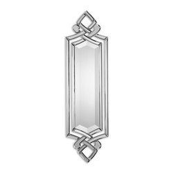 Uttermost - Ginosa Beveled Mirror - A decorative mirror makes just the right accent piece in your sophisticated home. Its unique shape and elegant lines are ideal for a narrow wall space. Just imagine it reflecting light around your room as it acts as a glistening piece of art.