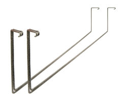 """HyLoft - HyLoft Add-On Storage Rack (Set of 2) - This tool and ladder rack attaches to the base of a HyLoft overhead storage unit to keep frequently-used tools and ladders right where you need them, rather than up against the wall where they tend to tumble and take up floor space. Powder-coating ensures optimal rust resistance for years of reliable storage use down the road. A pair of holders will hold items up to 31"""" wide."""