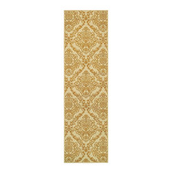 """Oriental Weavers - Indoor/Outdoor Bali Hallway Runner 2'3""""x7'6"""" Runner Ivory-Gold Area Rug - The Bali area rug Collection offers an affordable assortment of Indoor/Outdoor stylings. Bali features a blend of natural Gray-Blue color. Machine Made of Polypropylene the Bali Collection is an intriguing compliment to any decor."""