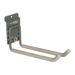 Storewall - Heavy Duty Universal Hook w/camLok - Ideal for lawn and garden implements, hand tools, sports equipment and many other storage challenges. This is truly the all-purpose hook for any storage need.