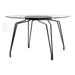 Diamond Table by Kubikoff - The Diamond Table is all about elegance and modern style. With interesting chrome-plated steel legs as a base and an octagonal glass top that sets it apart in a class of its own, this intriguing table will be the focal point of any modern dining room.