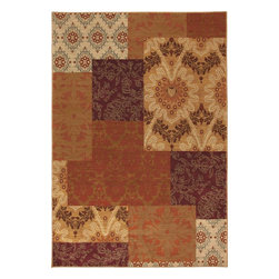 """Karastan - Carmel Pescadero Ginger Transitional Patchwork 2'4"""" x 8'3"""" Runner Karastan Rug - Floral motifs, sophisticated graphic patterns and modern damasks take center stage in the Carmel collection. Styled for today's relaxed living these fashion inspired patterns feature color palettes that are decorator friendly and offer the consumer an easy decorating choice."""