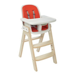 Oxo Tot Sprout Chair, Orange and Birch - Trendy tots can even get a dose of Tangerine Tango as they dine in this Oxo Tot Sprout Chair.