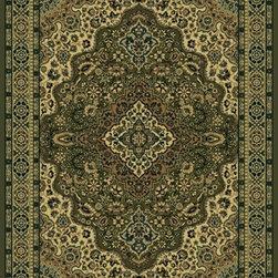 """Radici USA - Traditional Castello Hallway Runner 2'2""""x7'7"""" Runner sage Area Rug - The Castello area rug Collection offers an affordable assortment of Traditional stylings. Castello features a blend of natural burgundy color. Machine Made of Olefin the Castello Collection is an intriguing compliment to any decor."""