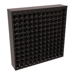 Wine Racks America - 144 Bottle Deluxe Wine Rack in Premium Redwood, Black Stain + Satin Finish - Store 12 full cases in this wine rack furniture style storage. This wood wine rack is designed to look like a freestanding wine cabinet. Solid top and side enclosures promote the cool and dark storage area necessary for aging your wine properly.