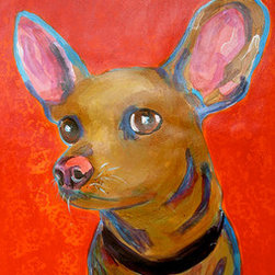 """""""Hola"""" (Original) By Andrée Cucullu Smith - Just A Cute Chihuahua With An Attitude."""
