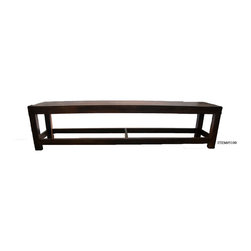 Solid Wood Dining Bench - Solid Rosewood bench with supporting stretchers for extra stability. Durable solid wood matches SxFE 6 person dining room tables. Imported from India.