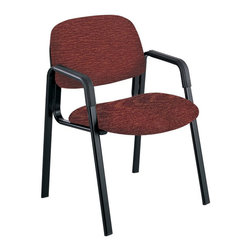Safco - Safco Cava Urth Straight Leg Guest Chair in Burgundy - Safco - Guest Chairs - 7046BG
