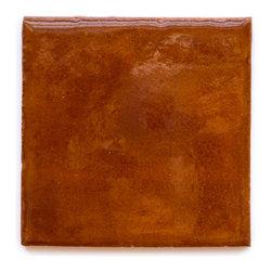 906R Burnt Sugar (Crackle and Glossy Finish) - Handmade Ceramic Tile - Handmade Ceramic Tile