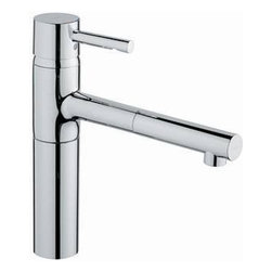 Grohe Essence Spray Pull Out Single Handle Kitchen Faucet - Simple, good looking and functional. Perfect for a contemporary kitchen and well priced to boot.