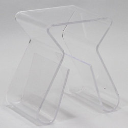Modway - Modway Acrylic Stool with Magazine Holder - Clear Multicolor - EEI-561-CLR - Shop for Stools from Hayneedle.com! Modern style and storage? The X-shaped East End Imports Acrylic Stool with Magazine Holder - Clear marks the spot. Crafted with a single piece of durable clear acrylic material this stool offers a smooth extra seat or doubles as a side table - and either way the curved base has two built-in slots for magazines books and papers. Use it indoors and out - the surface is easy to clean.About East End ImportsBased in New York City East End Imports designs and manufactures modern classics. With original ideas and innovative interpretations East End delivers the highest-quality contemporary furnishings in the widest selection of colors at the lowest prices possible.