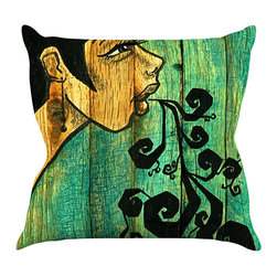 "Kess InHouse - Jaidyn Erickson ""Breathe"" Throw Pillow (18"" x 18"") - Rest among the art you love. Transform your hang out room into a hip gallery, that's also comfortable. With this pillow you can create an environment that reflects your unique style. It's amazing what a throw pillow can do to complete a room. (Kess InHouse is not responsible for pillow fighting that may occur as the result of creative stimulation)."