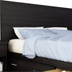 Sonax - Sonax Willow Panel Headboard in Ravenwood Black-Twin - Sonax - Headboards - SB1400 - The Sonax Willow Panel Headboard in rich Ravenwood Black finish offers simple yet elegant contemporary design that is suitable for any bedroom.