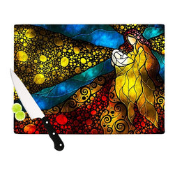 "Kess InHouse - Mandie Manzano ""What Child Is This"" Cutting Board (11.5"" x 15.75"") - These sturdy tempered glass cutting boards will make everything you chop look like a Dutch painting. Perfect the art of cooking with your KESS InHouse unique art cutting board. Go for patterns or painted, either way this non-skid, dishwasher safe cutting board is perfect for preparing any artistic dinner or serving. Cut, chop, serve or frame, all of these unique cutting boards are gorgeous."