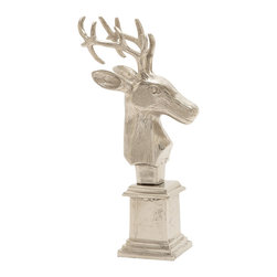 Fancy and Lovely Aluminum Reindeer Bust - Description: