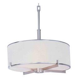 Maxim Lighting - Maxim Lighting 12053WTSN Nexus Satin Nickel Entry Foyer Pendant - 4 Bulbs, Bulb Type: 100 Watt Incandescent