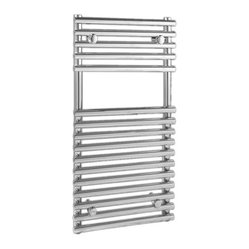 Flat Chrome Bar on Bar Towel Rail 30 inches x 18 inches.
